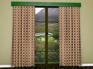 Mid-century curtaining material