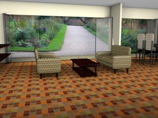 Floor tiles or linoleum patterns