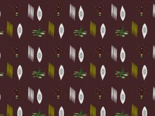 Mid-century fabric used as curtaining