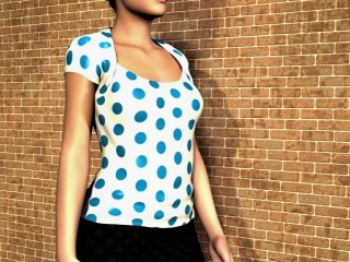 A polka dot pattern used for a top