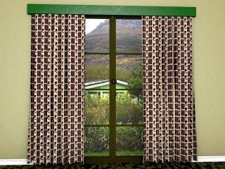 Modern mid-century curtain material