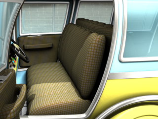 Mid-century design used as a transportation fabric