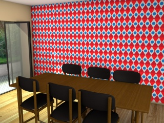 Late 1960s style wallpaper