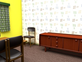 Mid-century wallpaper design