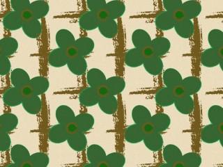 Floral mid-century pattern