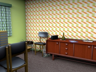 Mid-century wallpaper