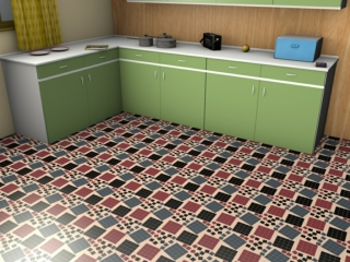 Mid-century floorcovering (lino)