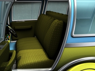 A mid-century inspired transportation fabric