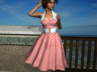1950s style dress fabric