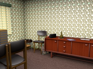 1970s inspired wallpaper design