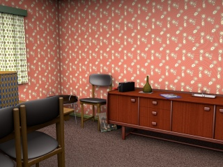 1950s style wallpaper