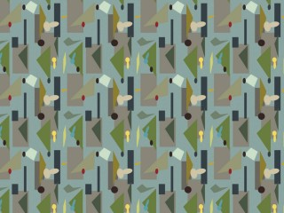 1950s inspired wallpaper design
