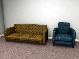 1950s inspired furnishing fabric design