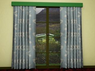 mid-century inspired curtain design