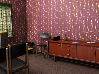 1950s inspired wallpaper pattern