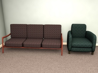 Quiet mid-century furnishing patterns