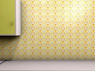 1950s style kitchen wallpaper design