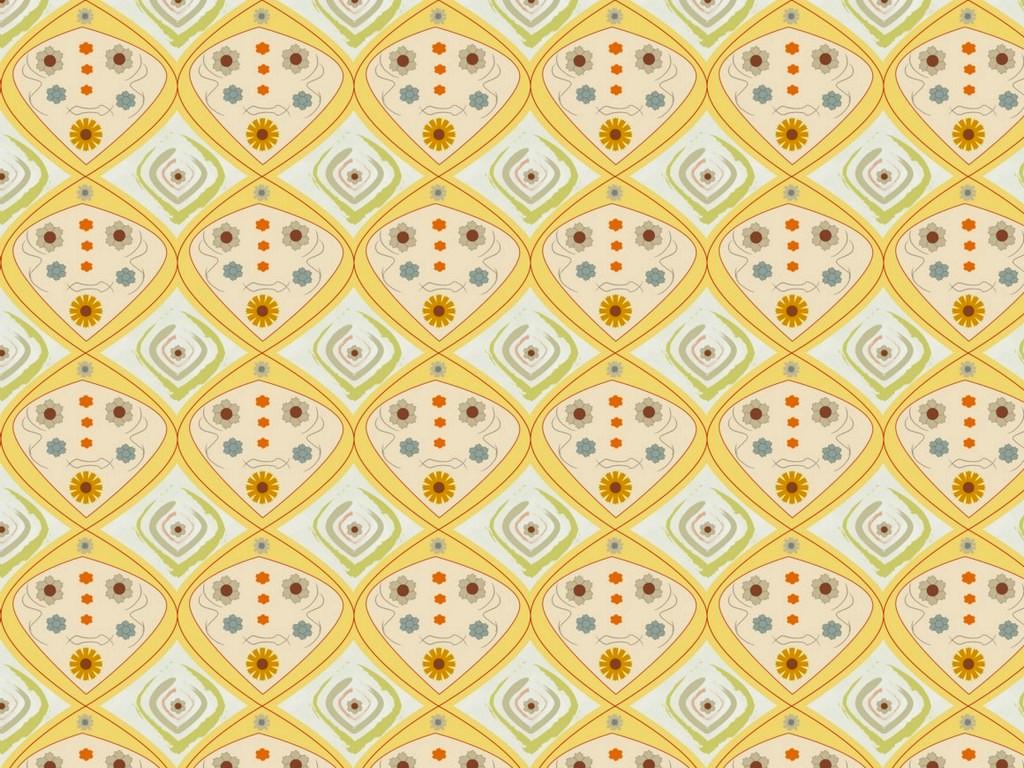 1950s Style Kitchen Wallpaper Design