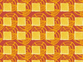 A 1960s style curtain pattern