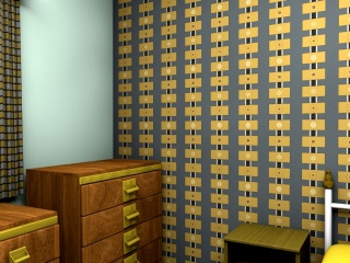 Two mid-century inspired wallpapers