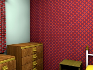 A restrained 1960s wallpaper design