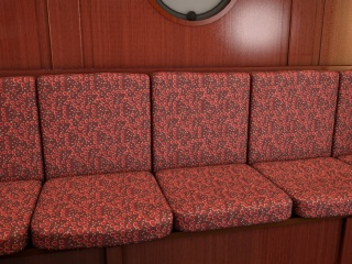 A cruise ship seating design: