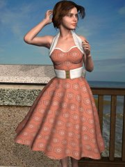 A 1950s inspired fabric