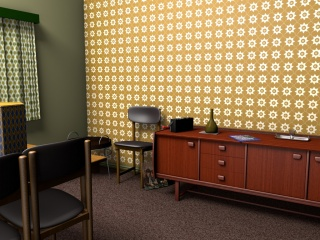A warm surfacepattern for a 1960s wallpaper