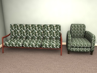 An unusual early 1950s inspired surface pattern