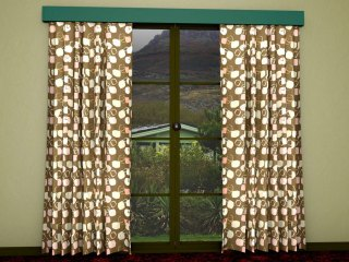 A 1950s style curtain pattern