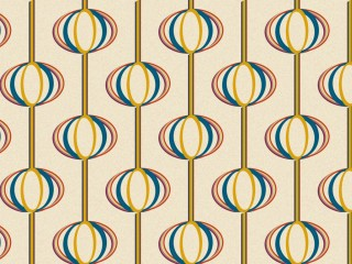 A 1960s wallpaper surfacepattern