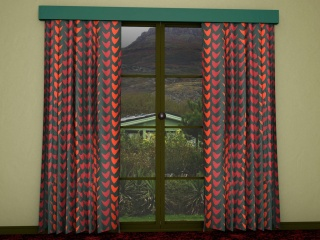 1960's curtain patterns