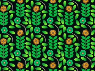 A mixed modern and mid-century dress pattern design