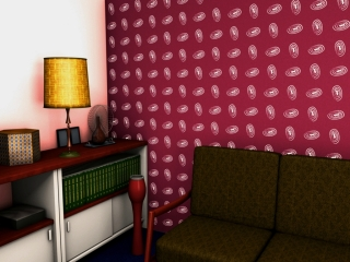 A mid century wallpaper design