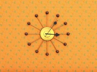 1960s style clock