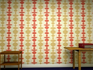 A 1950s wall paper design