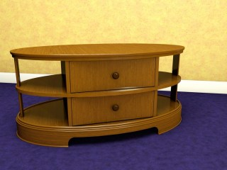 A useful and timeless oval coffee table