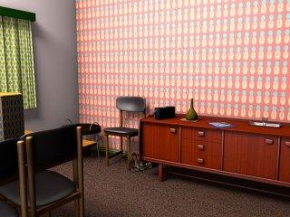 Midcentury wallpaper design