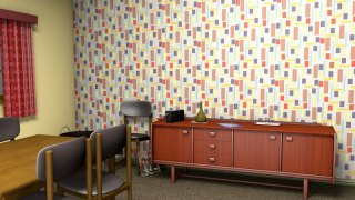 Mid-century inspired wallpaper