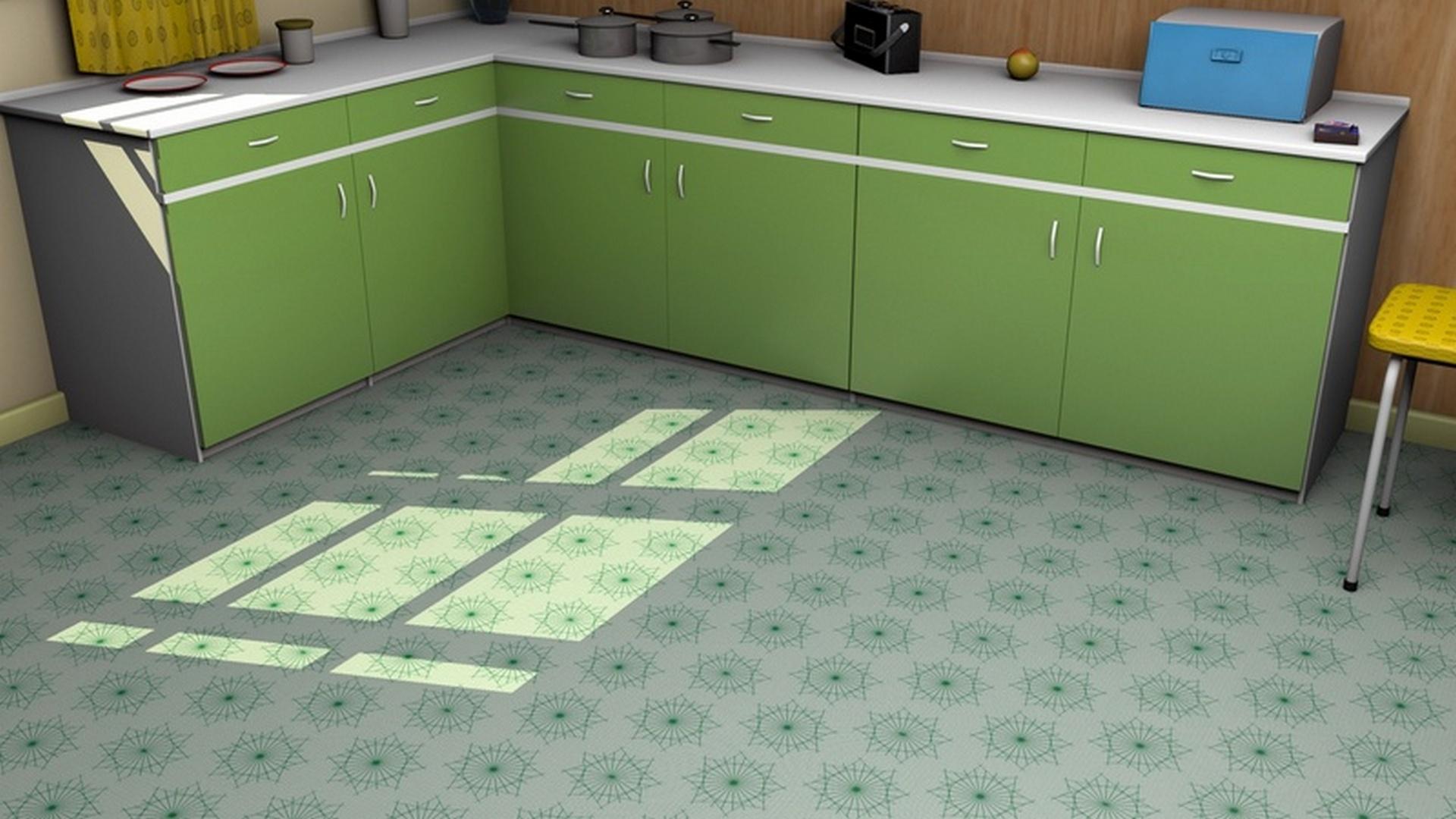 Mid-Century Inspired Kitchen Floor-Covering | Mid Century Styles