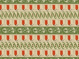 Formal Midcentury Style Wallpaper