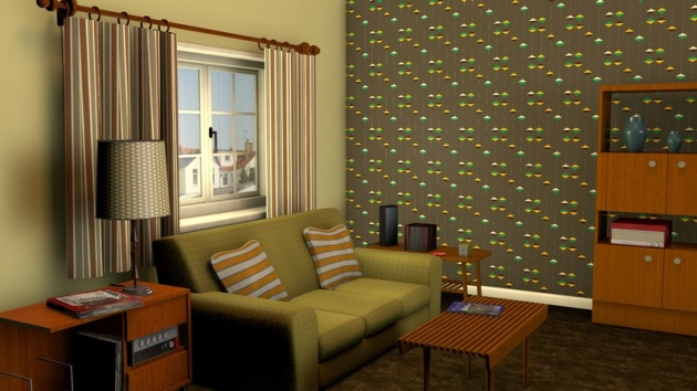 Special Living Room Wallpaper