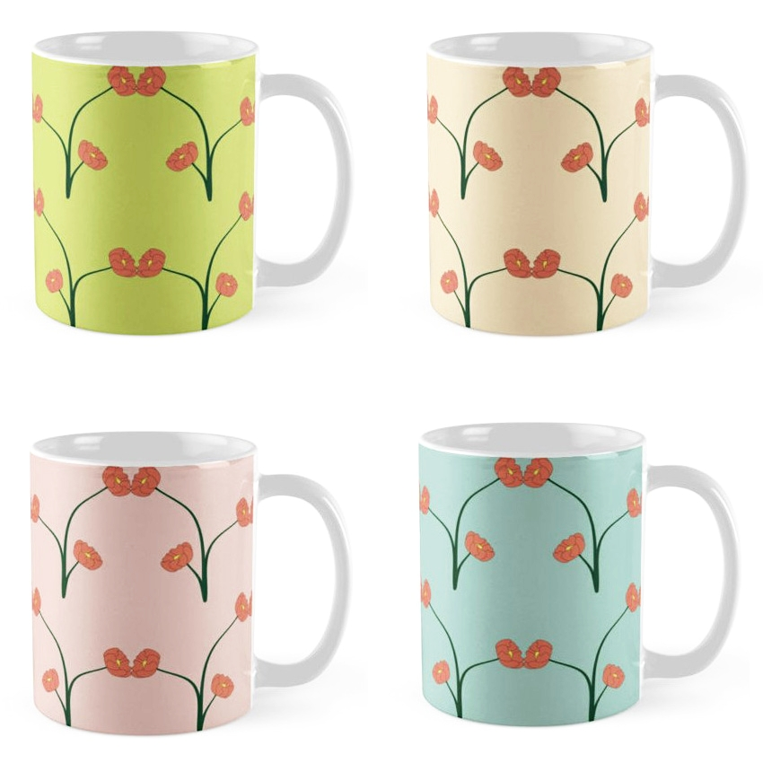 Redbubble Oulton Pastel Mugs