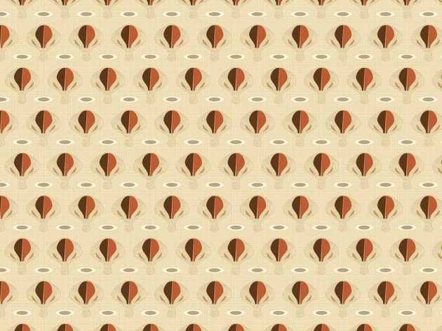 "Mid-century inspired fabric pattern ""The Balloon Race"""