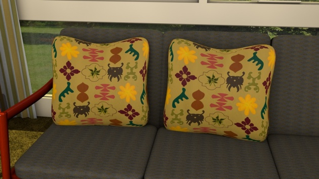 mid-century inspired fabric for cushions, fashion and curtains