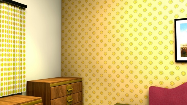 midcentury inspired wallpaper design
