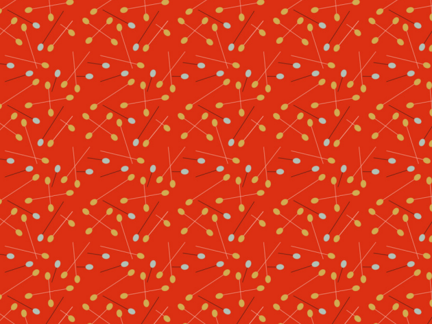 midcentury inspired fabric pattern