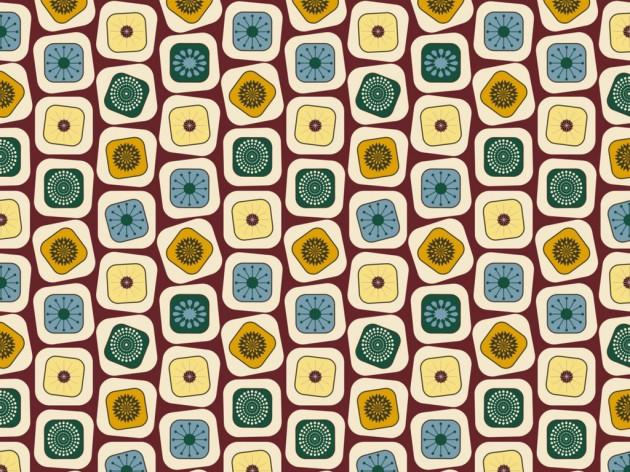 Mid-century inspired 3D texture