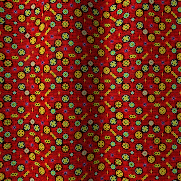 Red Fabric 3D