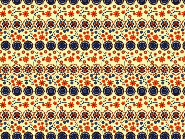 A pattern design for fabric or wallpaper